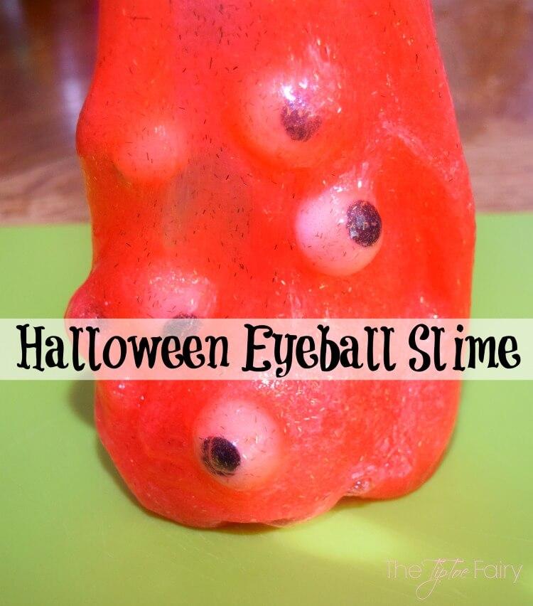 Make your own creepy Glittery Eyeball Slime!