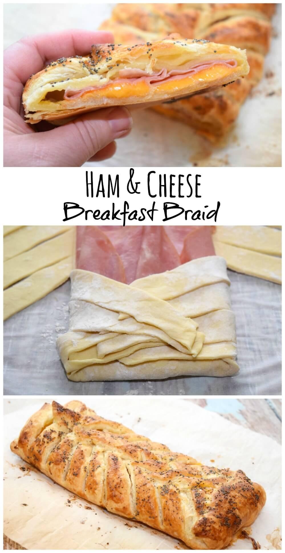 Get #BeyondTheSanwich w/this easy Ham and Cheese Breakfast Braid #ad @Walmart