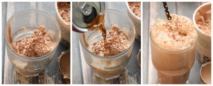 Three Easy Ways to make Gourmet Ice Cream Floats! #yum #drink #icecream