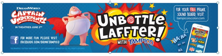 #UnbottledLaffter with Evil Zombie Nerd Milkshakes for the Captain Underpants movie! #TampicoJuice #DrinkTampico #ad @DrinkTampico