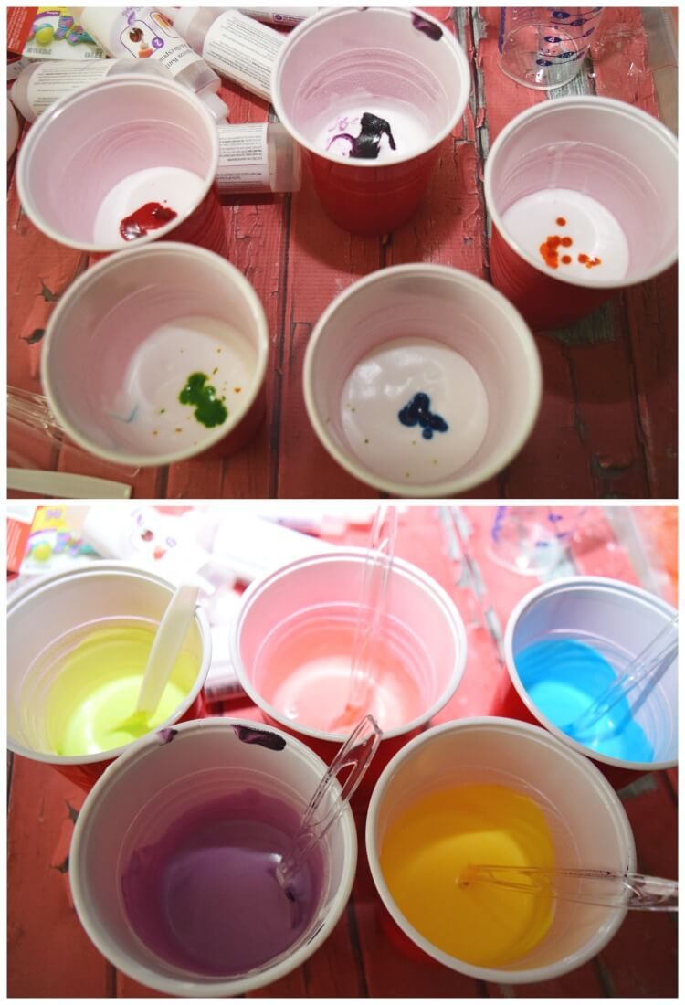 Science & Fun Outdoor Play - #DIY Sidewalk Fizzy Foam Paint w/ easy clean up! #craft