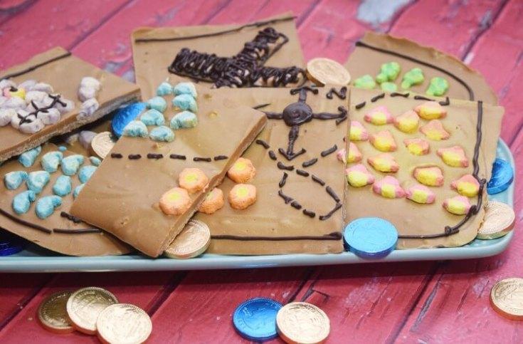 Pirate Treasure Map Bark