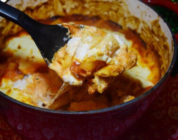 One Pot Cheesy Chicken Rigatoni