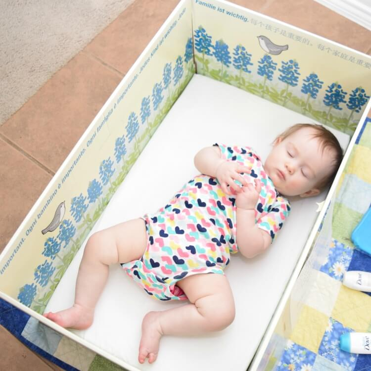 Naptime in our FREE Baby Box from @TheBabyBoxCo!