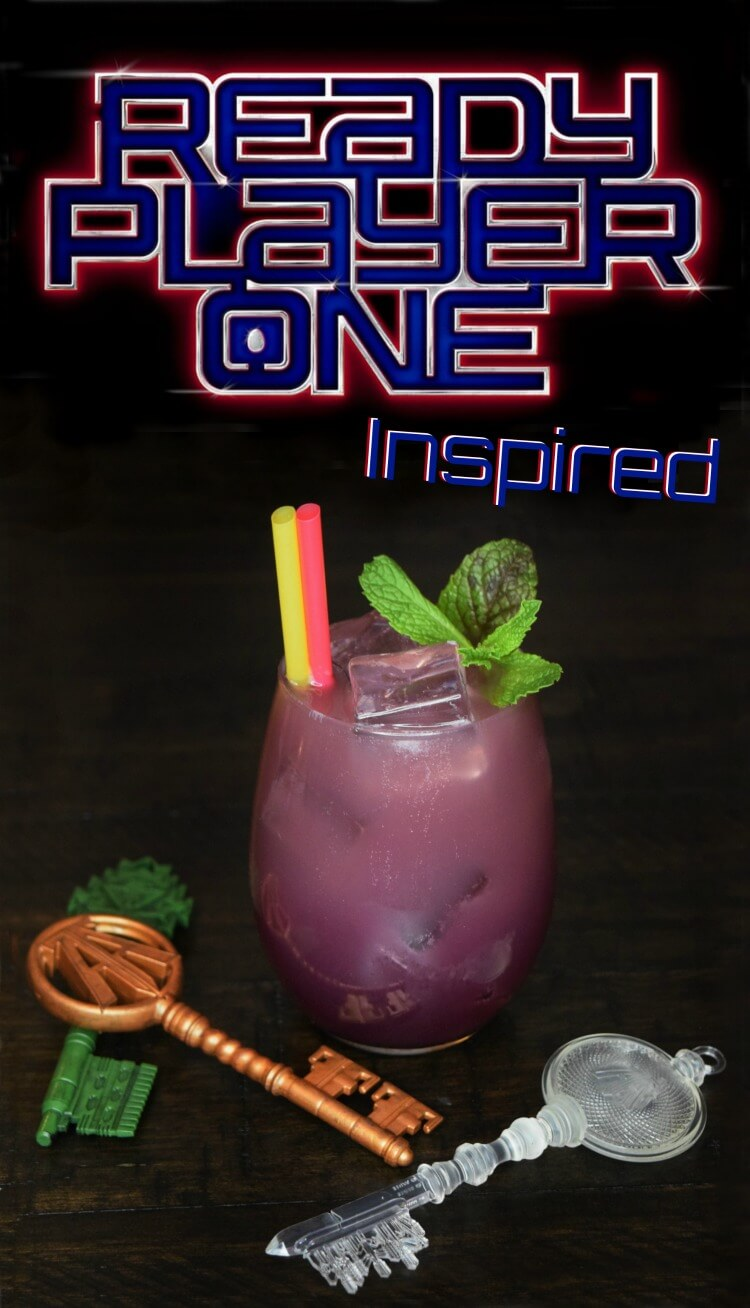Are you ready for #ReadyPlayerOne? It comes out this week! Here's a fun little Flux Capacitor mocktail! #MovieMondayChallenge #drink