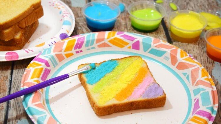 Marshmallow Edible Paints for Rainbow Toast   The TipToe Fairy