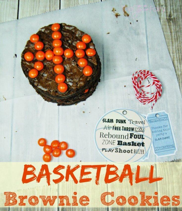 Basketball Brownie Cookies