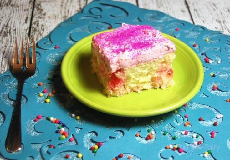 Bubblegum Poke Cake