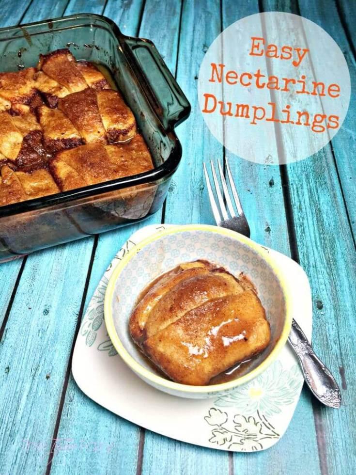 Easy Nectarine Dumplings