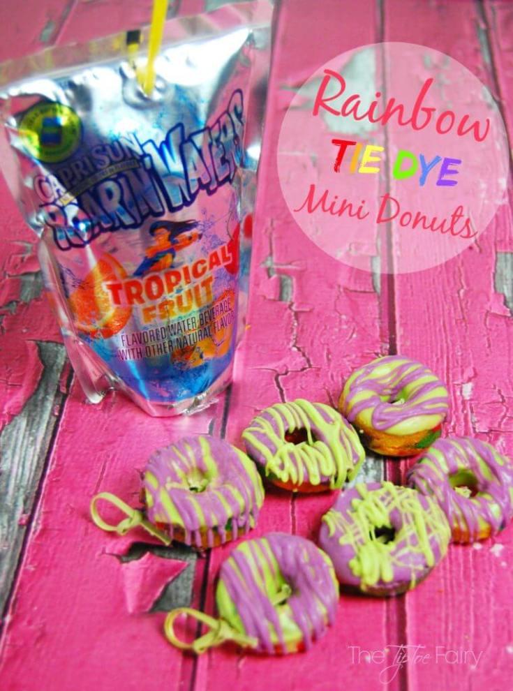 Rainbow Tie Dye Mini Donuts