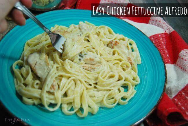 Easy Chicken Fettuccine Alfredo