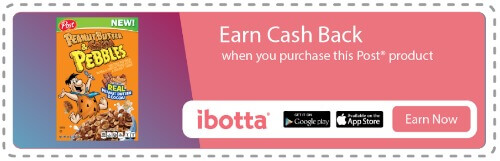 Earn Cash Back with ibotta and Peanut Butter & Cocoa Pebbles