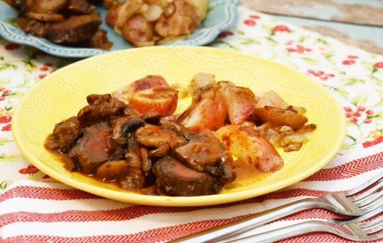 Tyson® Fully Cooked Dinner and Entrée Kit Seasoned Steak Fillet & Mushrooms