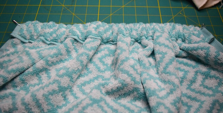Create a casing in hand towel