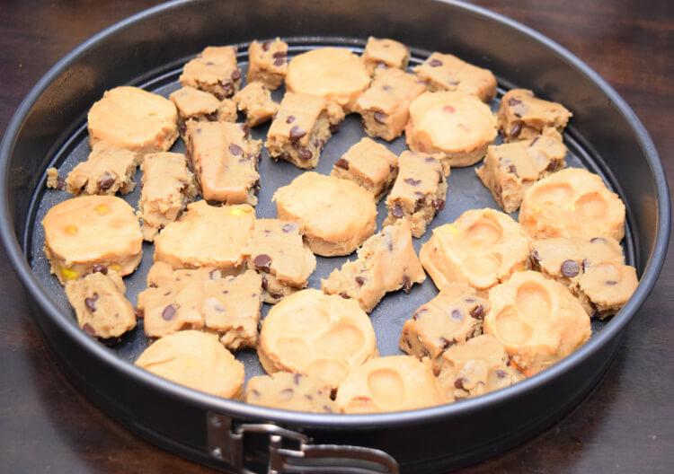 Dinosaur Pizza Cookie Dough pieces