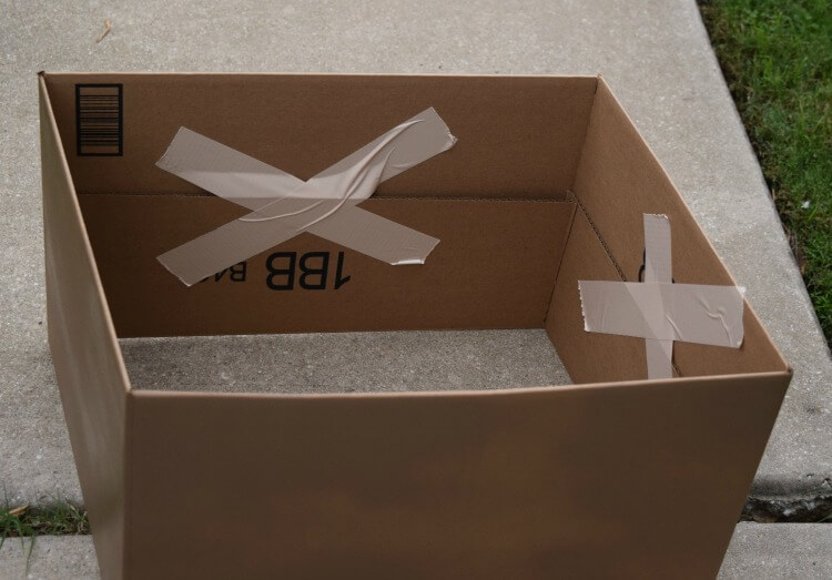 Fold flaps of box inside and tape down