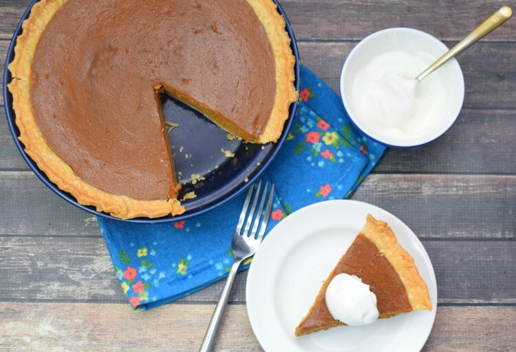 Dulce de leche Pumpkin Pie for your holiday dinner