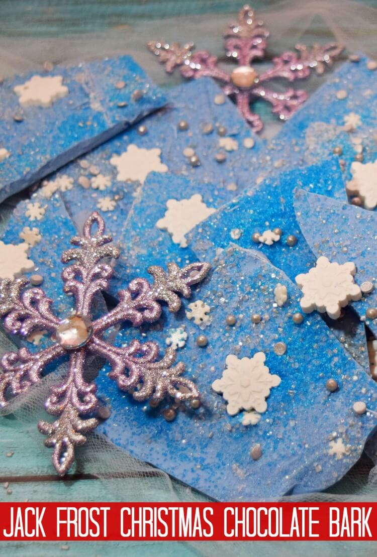 Jack Frost Christmas Chocolate Bark
