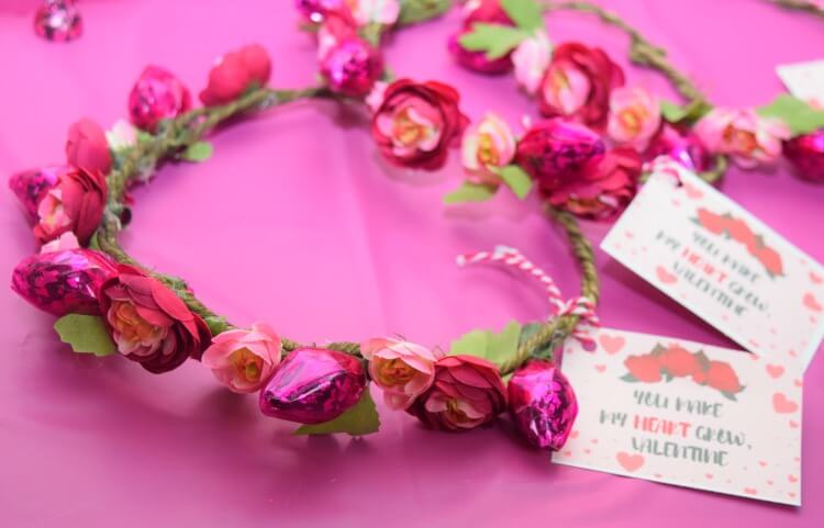 Make a Valentine Candy Flower Crown