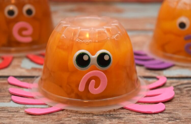 Octopus Fruit Cup Valentines