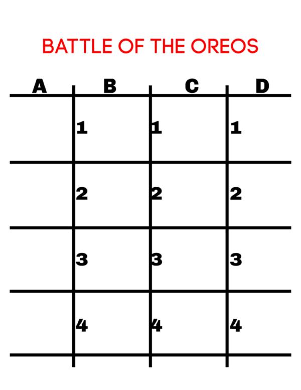 Battle of the OREOs FREE Printable