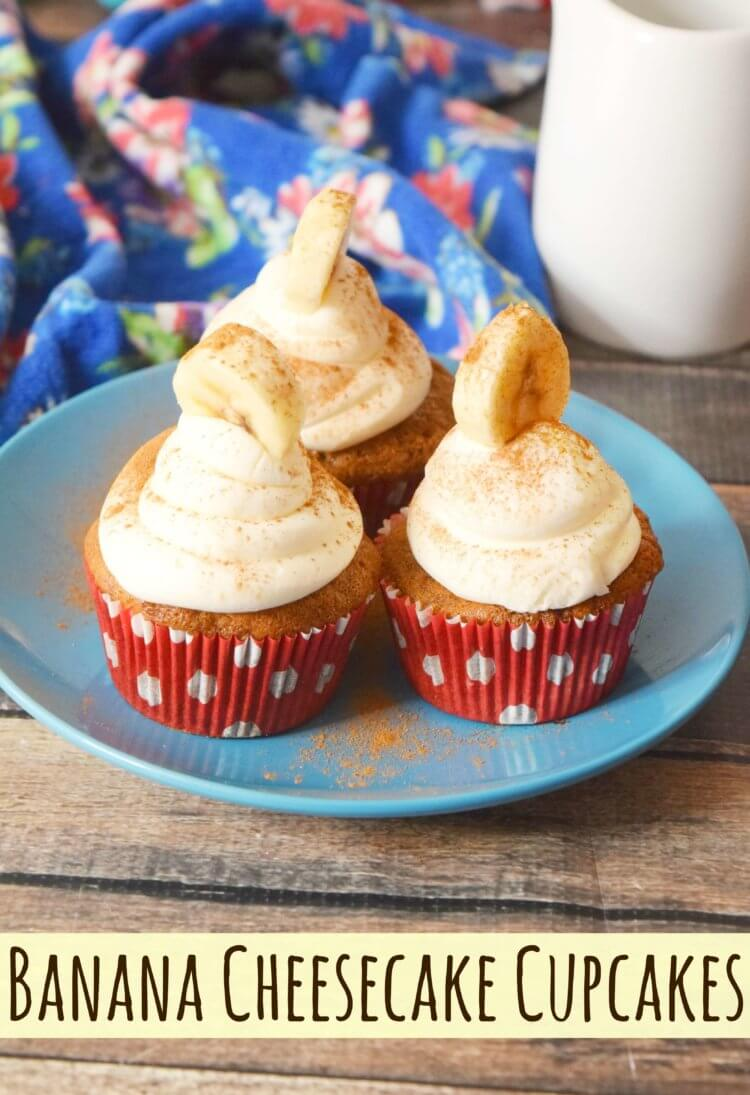 Banana Cheesecake Cupcakes