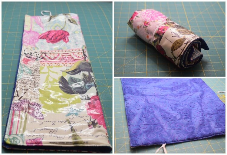 How to roll up the diy baby changing pad.
