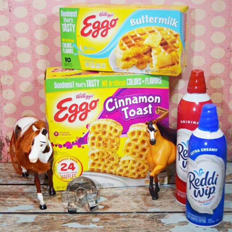 Eggo and Reddi-wip for easy apple parfaits.