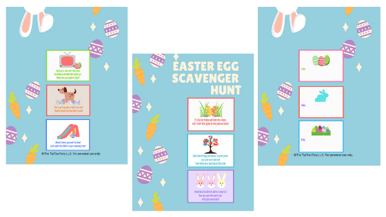 Easter Egg Scavenger Hunt clues - A set of 6 clues plus 3 more to make your own clues.
