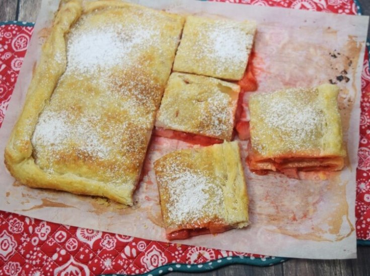 Strawberry Slab Pie with Puff Pastry