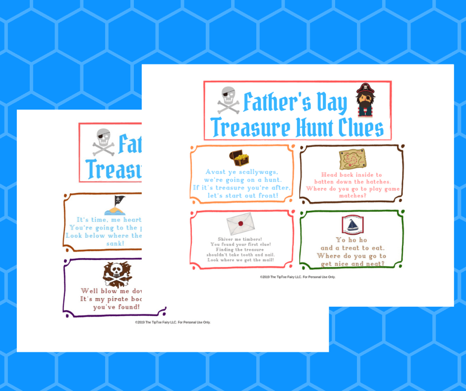 The Father's Day Pirate Treasure Hunt Clues