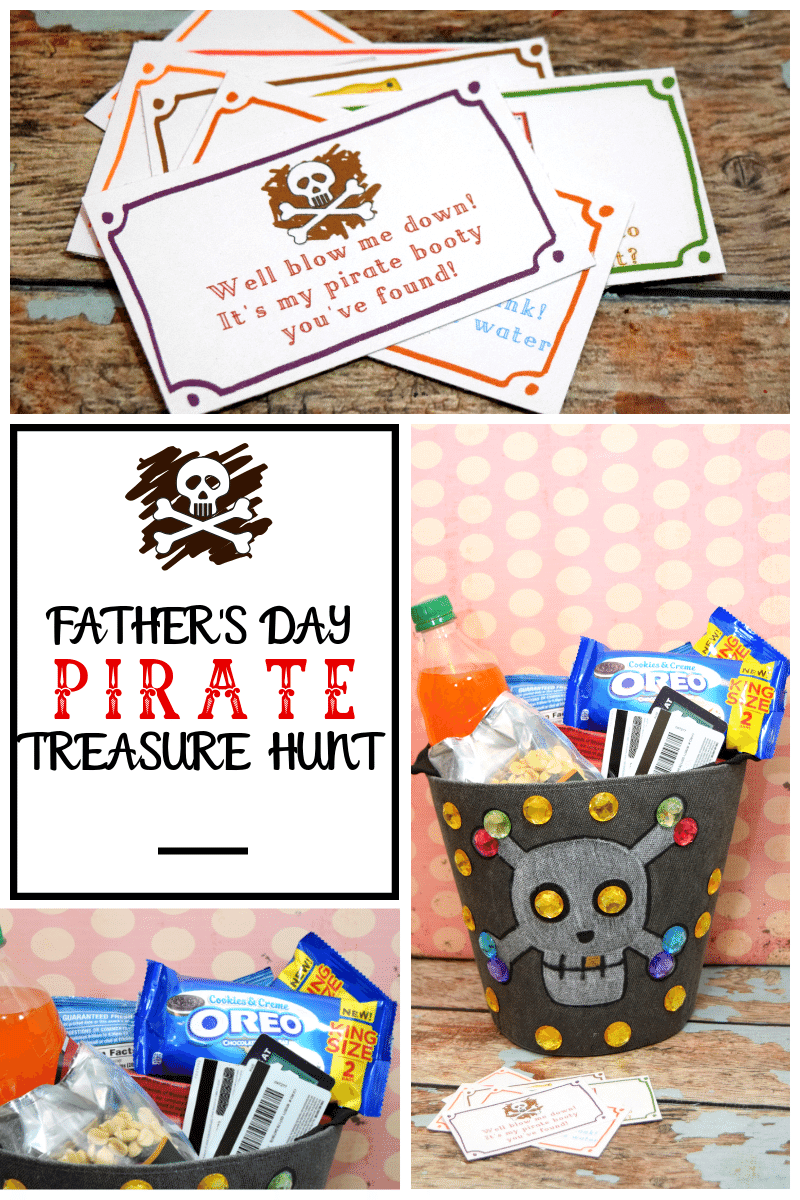 Create a Pirate Treasure Hunt for Father's Day with these fun printable clues.