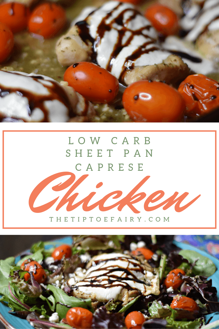 Low Carb Sheet Pan Caprese Chicken Thighs