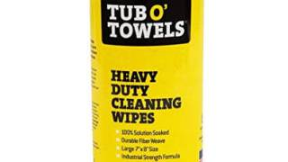 """Tub O Towels Heavy-Duty 7"""" x 8"""" Size Multi-Surface Cleaning Wipes, 40 Count Per Canister"""