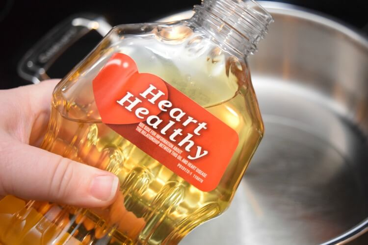The Heart Healthy label on Mazola Corn Oil