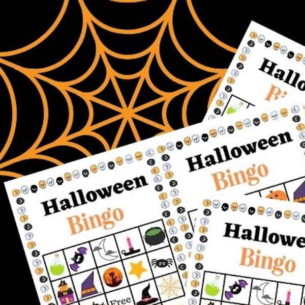 3 Sets of Free Printable Halloween Bingo Cards