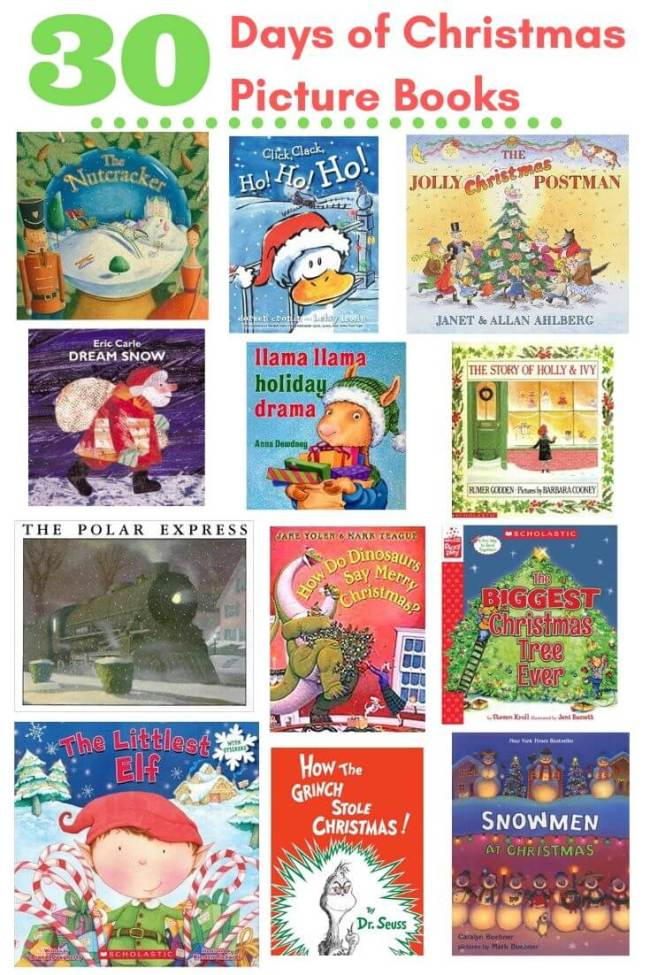 A sample of the 30 days of Christmas Picture Books for Kids