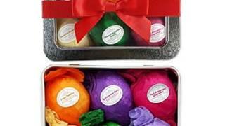 Bath Bomb Gift Set USA - 6 Vegan Essential Oil Natural Lush Fizzies Spa Kit