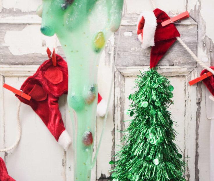 Christmas Lights Slime