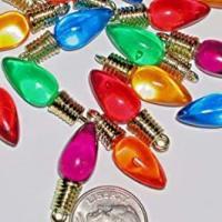 Christmas Lights bulb charm beads