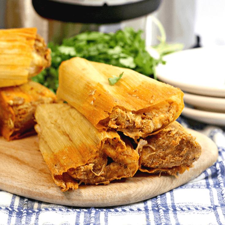 Instant Pot Rotisserie Chicken Tamales