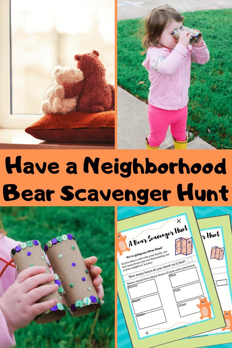Let's go on a Neighborhood Bear Scavenger Hunt