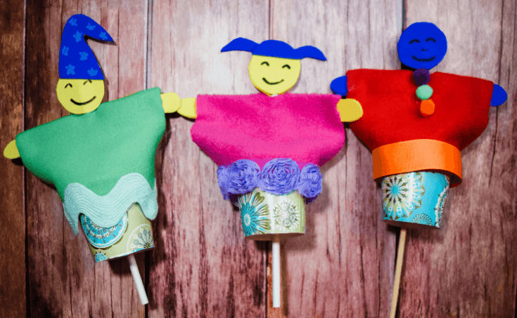 Paper Cup Puppets