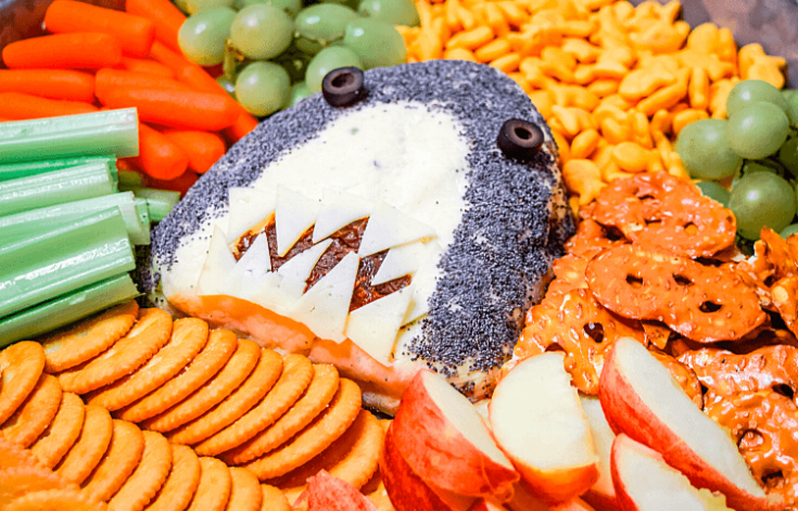 Shark-Cuterie Cheese Ball