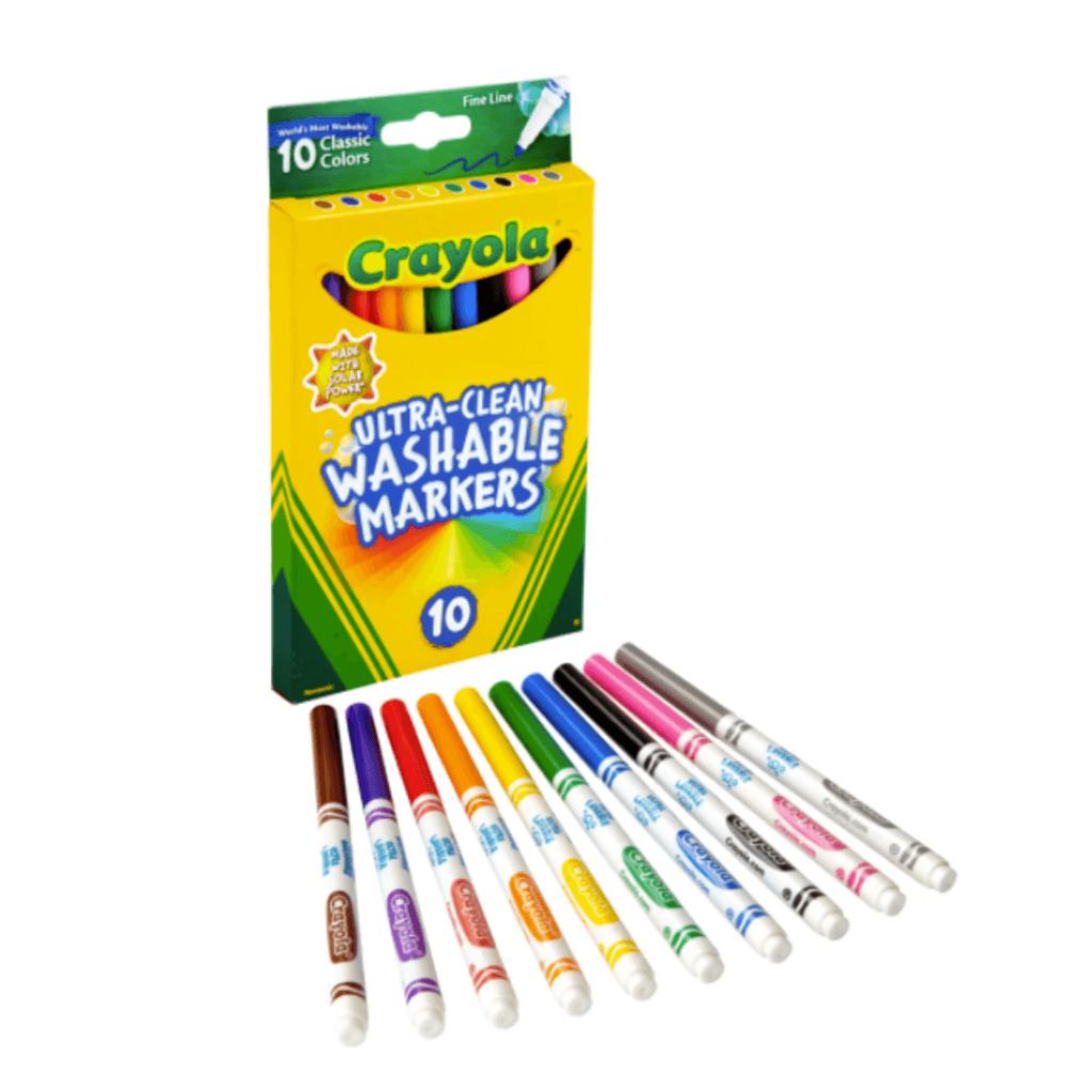Crayola Ultra-clean Washable Markers in fine line classic colors - back to school shopping at Office Depot.