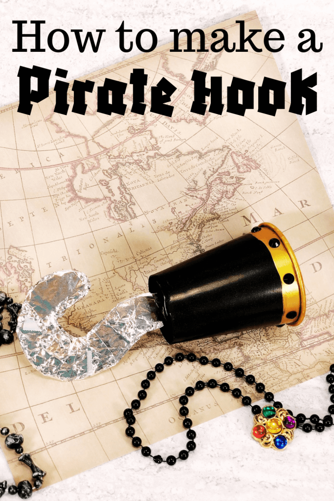 Title image on how to make a pirate hook with a finished one