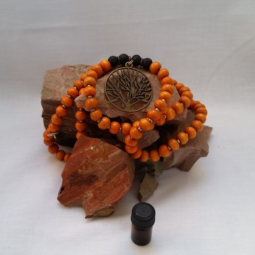 Lava Stone Necklace orange
