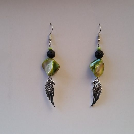 Abalone Shell Aromatherapy Earrings