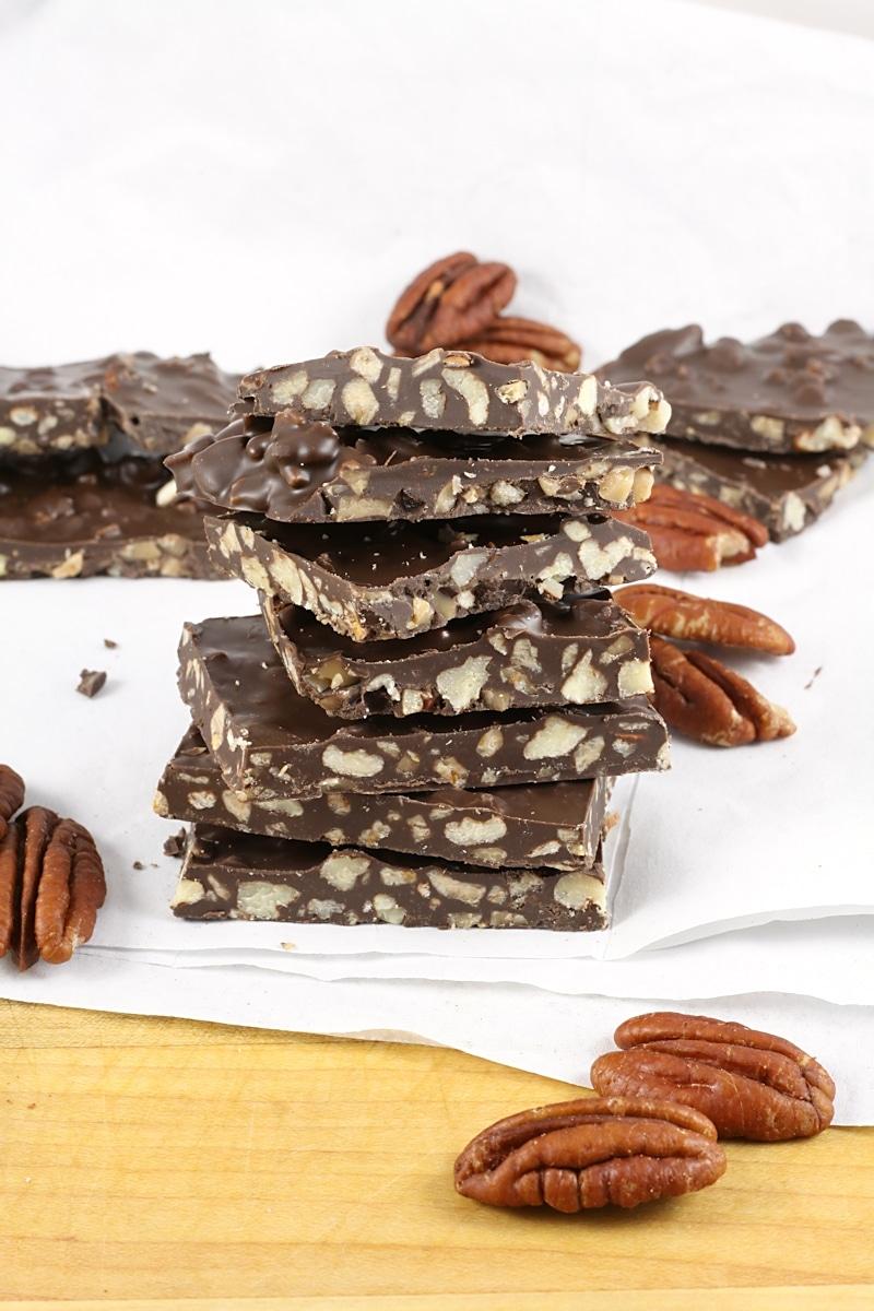 Rum Spiced Pecan Chocolate Bark Recipe TasteSpotting  TasteSpotting