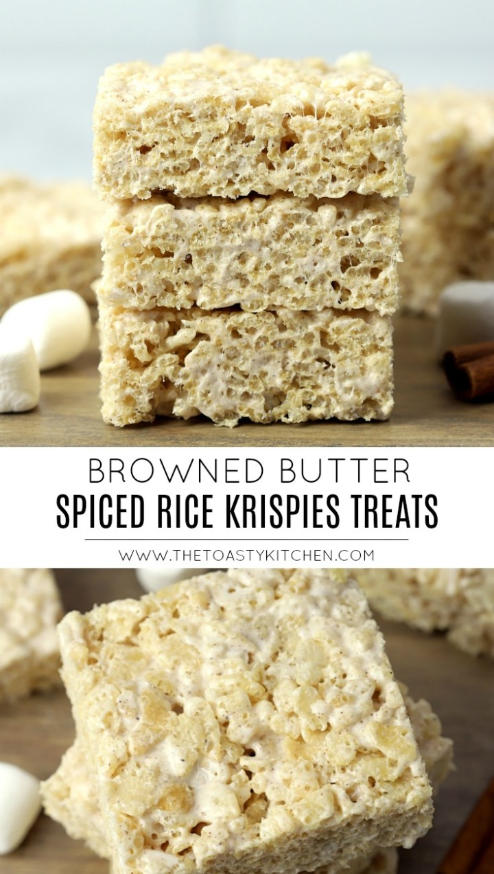 Browned Butter Spiced Rice Krispies Treats by The Toasty Kitchen